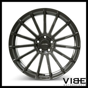 """20"""" ACE DEVOTION GREY CONCAVE WHEELS RIMS FITS FORD MUSTANG SHELBY GT GT500"""