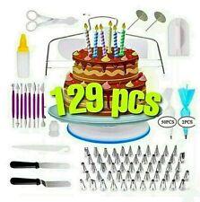 Cake Decorating Tool Set Kit Bags Tips Pastry Bag Nozzles Baking Supplies 129pcs