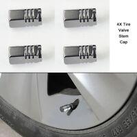 4PCS Aluminum Tire Wheel Rims Stem Air Valve Caps Tyre Cover For Car Truck Bike