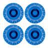 4 Pcs Blue Top Hat Electric Guitar Control Knob 0-11 Volume Tone Knobs Bell Knob