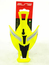 Elite Custom Race Bicycle Water Bottle Cage Bright Fluorescent Yellow/Black
