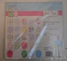 Grace Taylor Bright Young Things Paper Pack - 92 Sheets 30.5 x 30.5cm Papercraft