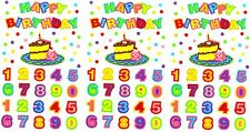 Mrs Grossman's HAPPY BIRTHDAY Number Confetti Scrapbook Stickers 3 Sheets
