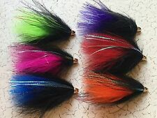Cone Head Marabou Tube Fly Fishing Flies Salmon Steelhead Trout Articulated Spey