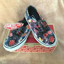 NEW VANS AUTHENTIC GALAXY FLORAL SHOE YOUTH 10.5Y