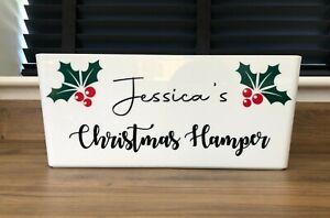 Personalised Christmas hamper box, personalised Christmas gift, Hamper storage b