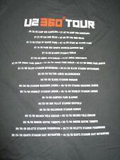 "U2 ""360 Degrees"" Concert June 30 2009 - September 25, 2009 Tour (Lg) T-Shirt"