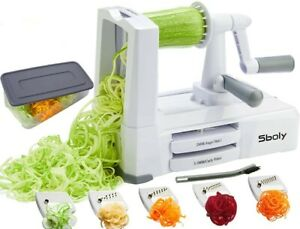 Sboly Vegetable Spiralizer - Vegetable Slicer with 5 Cutter- Zucchini Spaghetti