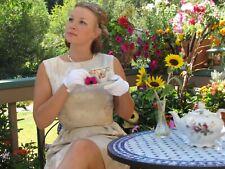 Vintage White & Silver Brocade Dress Mad Men 50's Silk Wedding