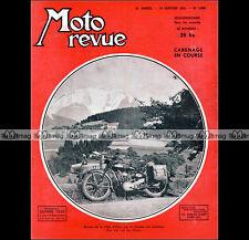 MOTO REVUE N°1069 BUSI 125 BENELLI 250 SCOOTERS PARILLA & VESPA GNOME RHONE 1952
