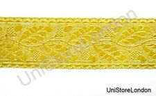 Braid Gold Mylar Oak Leaf 50mm Rank Marking Lace Trim R1284