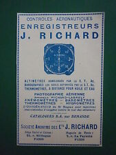 1931-32 PUB JULES RICHARD APPAREIL PHOTO AERIENNE ALTIMETRE BAROGRAPHE FRENCH AD