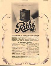 Publicité ancienne poste radio Pathé