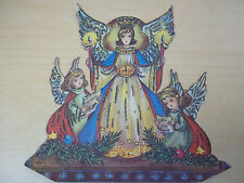 Vintage Christmas Advent Calendar - Haco Angels - Western Germany - Excellent