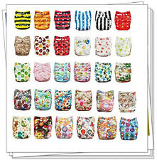 30 Alva Colorful Reusable Baby Pocket Cloth Diapers Nappies WHITOUT Inserts