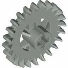 LEGO - Technic, Gear 24 Tooth Crown (X2) - Light Gray