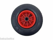 "12"" pneumatic 4.00 - 6 PLASTIC sack truck trolley wheelbarrow wheel 20MM Bearing"