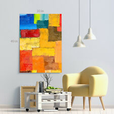 Abstract Colour Shape Colour Canvas Wall Art Picture Print