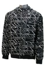 TRESPASS LOGO PRINT JACKET BLACK/WHITE CASUAL AUTHENTIC BNWT SIZE XL