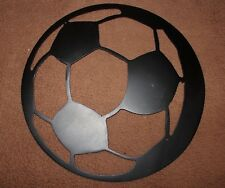 Soccer Ball Metal Art - Black - 9""