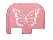 Rear Slide Cover Plate Pink for Glock 42 G42 .380 Butterfly
