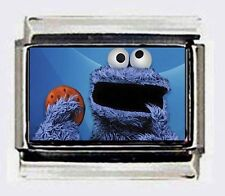 COOKIE MONSTER SESAME STREET  9mm Italian Photo Charms fr modular style bracelet