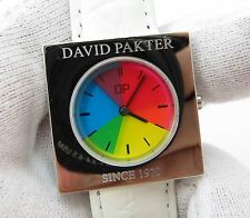 "DAVID PAKTER,of Pakter/Krauss,Timex Color Flicks,MIB,""CUBE"" UNISEX WATCH,R7-10"