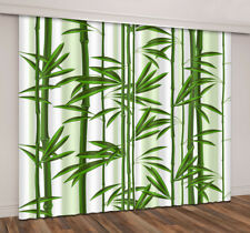 2 Panels 3D Bamboo Forest Room Darkening Blockout Curtain Drapes Fabric Window