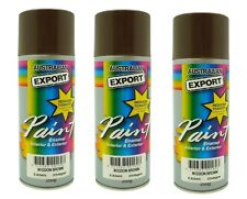 3 x Australian Export Spray Paint Cans 250gm Mission Brown 100% Brand New