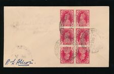INDIA 1944 PoW CAMP GROUP 2...BLOCK of 6 with 2 TETE BECHE PAIRS CENSOR V84...L1