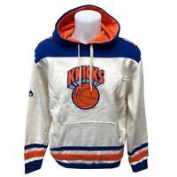 NBA Men's New York Knicks Hoody Sweatshirt Small Medium Off White Hoodie