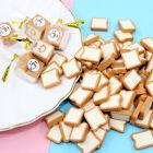 4 bags 1:12 Dollhouse Miniature Food Bread Toast Dolls Kitchen Accessor FO