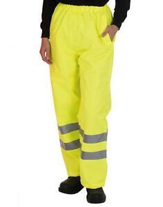 Warnschutzkleidung Warnschutzhose OVER TROUSERS YELLOW HVS461 Größen S-3XL