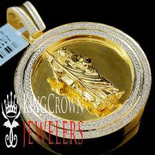 New Genuine Diamond Saint Jude San Judas Tadeo Pendant Medallion 10K Gold Finish