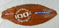 """vintage budweiser bud light inflatable football 36""""  new old stock blow up"""