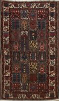 Antique Geometric Traditional Area Rug Hand-Knotted Vegetable Dye Carpet 5'x7'