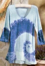 Soft Surroundings Tunic Top Tie Dyed Lightweight Soft Comfy SZ M, L $90 NEW!
