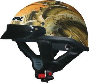 AFX ADULT FX-70 Beanie Wood Camo Motorcycle Half Helmet XS-2XL X-Small 0103-1058