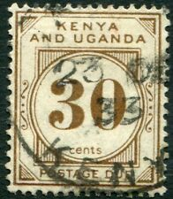 KENYA & UGANDA-1931 30c Brown Postage Due Sg D4 GOOD USED V34456