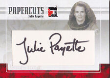 2011 ITG Canadiana Julie Payette 1/1 Auto Papercuts Astronaut In The Game