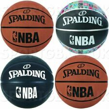 SPALDING BASKETBALL NBA - SIZE 5 & SIZE 7 TAN BLACK & LOGO BASKET BALLS