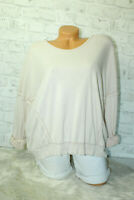 Italy New Sweat Sweatshirt Oversized Gr. 36 38 40 42 blogger Pulli rosa