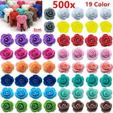 500 Foam 3cm Roses Wedding Craft Flower Party Decoration Favour 19 Colour