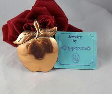 Vintage Copper Craft Gorgeous Apple Pendant  CAT RESCUE