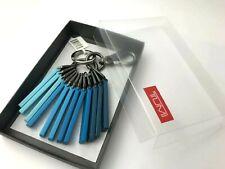 Tumi Zipper Puller Dangler Blue Key Fob Ring Chain Purse Charm Luggage Hang Tag