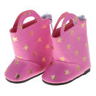Star Printed Zippered Boots for 14'' American Doll Wellie Wisher Doll Accessory