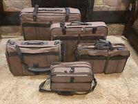 VTG 5 pc Samsonite Silhouette 1987 travel Bag pink Rose Tweed luggage suitcases