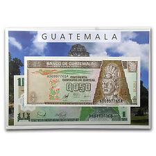 1998-2010 Guatemala 1/2-10 Quetzal Banknote Set BU - SKU #49247