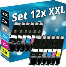 12x XL TINTE PATRONEN Chip für CANON PIXMA MG6350 MG7150 MG7550 IP8750 CLI-551GY