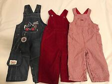 Baby Boy TODDLERS 12-18 Months Overalls Fall Winter Spring Clothes Lot 3